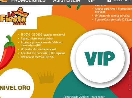 Bonos VIP La Fiesta Casino