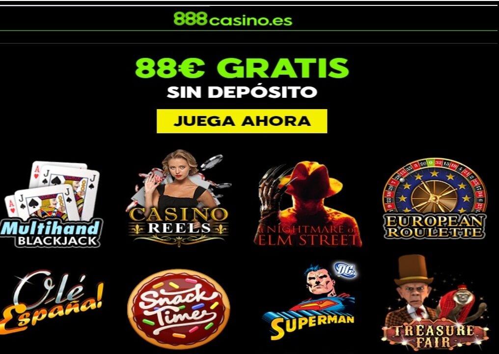888 Casino promoción bono por registro sin depósito por 88 euros