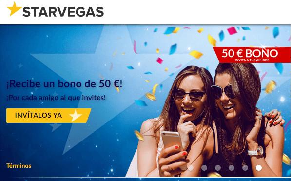 El primer depósito entrega hasta 200 euros en Starvegas